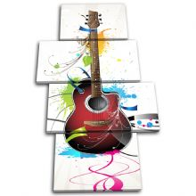 Abstract Guitar Musical - 13-2035(00B)-MP04-PO